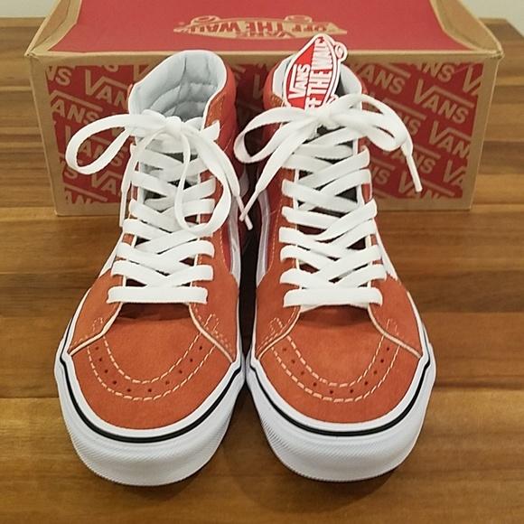 7212f33484 Vans sk8-Hi high top sneakers hot sauce true white